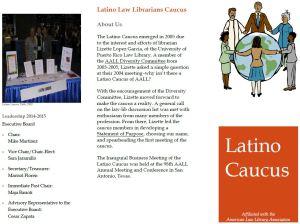 Latino caucus brochure
